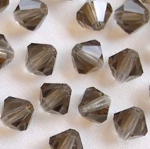 6mm Preciosa Crystal Bicone Black Diamond - 72